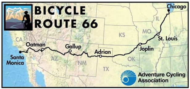 adventure cyclist route 66