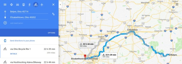 ohio belpre to elizabethtown
